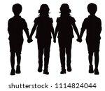 fashion children vestors | Shutterstock .eps vector #1114824044
