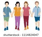 fashion children vestors   Shutterstock .eps vector #1114824047