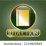 golden badge with book icon... | Shutterstock .eps vector #1114825865