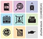 set of 9 simple editable icons... | Shutterstock .eps vector #1114838141