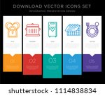 5 vector icons such as do not... | Shutterstock .eps vector #1114838834