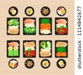 vector illustration of meal... | Shutterstock .eps vector #1114842677