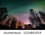 aurora in finland   Shutterstock . vector #1114861919