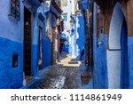 chefchaouen  blue city of...   Shutterstock . vector #1114861949