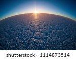 salar de uyuni at sunrise. salt ...   Shutterstock . vector #1114873514