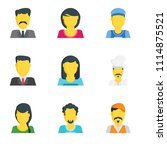 set of 9 simple editable icons... | Shutterstock .eps vector #1114875521