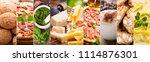Food Collage Of Various Italia...
