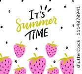 summer background template with ... | Shutterstock .eps vector #1114878941
