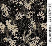 tropical seamless plants...   Shutterstock .eps vector #1114879484