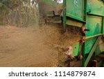 machine generating paddy husk... | Shutterstock . vector #1114879874