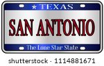 san antonio texas state license ... | Shutterstock .eps vector #1114881671