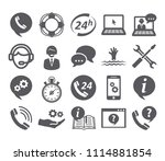 support service icons | Shutterstock .eps vector #1114881854