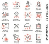 vector set of linear icons... | Shutterstock .eps vector #1114882001