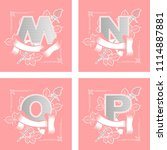 set of vector letters in...   Shutterstock .eps vector #1114887881
