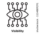 visibility icon vector isolated ... | Shutterstock .eps vector #1114889291