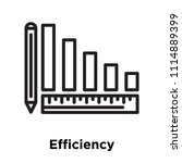 efficiency icon vector isolated ... | Shutterstock .eps vector #1114889399