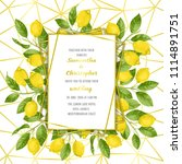 wedding invitation card with... | Shutterstock .eps vector #1114891751