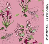 retro wild seamless floral... | Shutterstock .eps vector #1114900007