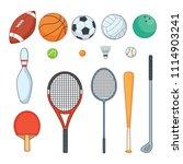 sports equipment color | Shutterstock .eps vector #1114903241