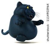 black cat   3d illustration   Shutterstock . vector #1114903964