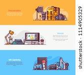 digital media professions icons ...   Shutterstock .eps vector #1114905329