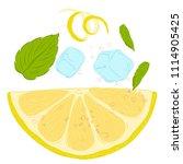 pattern lemonade  carbonated... | Shutterstock .eps vector #1114905425