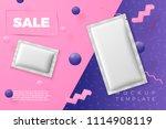 vector 3d realistic abstract... | Shutterstock .eps vector #1114908119