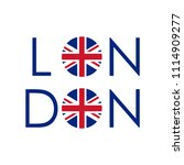 london typography design with... | Shutterstock .eps vector #1114909277