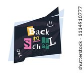 back to school. greeting card... | Shutterstock .eps vector #1114910777