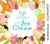 ice cream poster. brightly... | Shutterstock .eps vector #1114910957