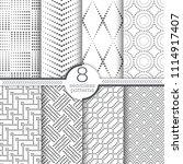 set of vector seamless patterns.... | Shutterstock .eps vector #1114917407