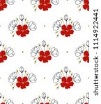 floral seamless pattern. part... | Shutterstock .eps vector #1114922441