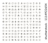 web icon set. collection of... | Shutterstock .eps vector #1114922654