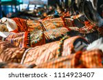 close up of colorful decorated... | Shutterstock . vector #1114923407