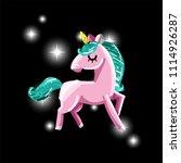 cute magic unicorn. romantic...   Shutterstock .eps vector #1114926287