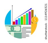 increase in financial capital.... | Shutterstock .eps vector #1114926521