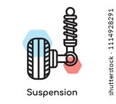 suspension icon vector isolated ... | Shutterstock .eps vector #1114928291