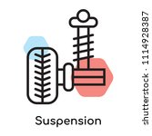 suspension icon vector isolated ... | Shutterstock .eps vector #1114928387