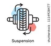suspension icon vector isolated ... | Shutterstock .eps vector #1114928477