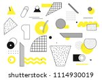 universal trend halftone... | Shutterstock .eps vector #1114930019