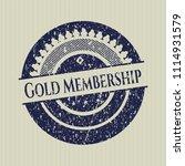 blue gold membership rubber... | Shutterstock .eps vector #1114931579
