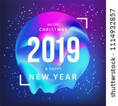 happy new year 2019 design card.... | Shutterstock .eps vector #1114932857