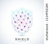 colorful vector template shield ... | Shutterstock .eps vector #1114933184