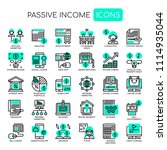 passive income   thin line and...   Shutterstock .eps vector #1114935044