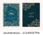 wedding invitation  floral... | Shutterstock .eps vector #1114935794