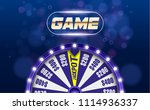 blue fortune wheel 3d object on ... | Shutterstock .eps vector #1114936337