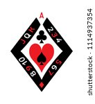 poker deck sign | Shutterstock .eps vector #1114937354