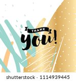 thank you. typography for... | Shutterstock .eps vector #1114939445