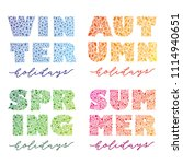 seasons. vector calligraphy... | Shutterstock .eps vector #1114940651