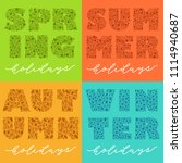 seasons. vector calligraphy... | Shutterstock .eps vector #1114940687